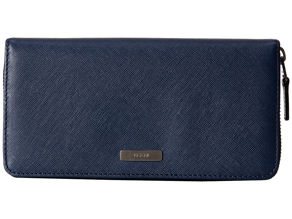 ECCO - Firenze Large Zip Wallet (True Navy) Wallet Handbags