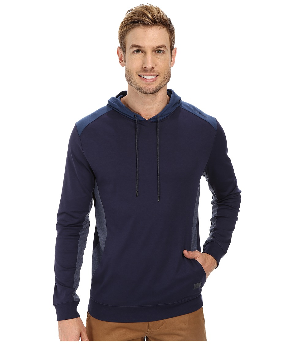 Calvin Klein Jeans - Interlock Heather Hoodie (Navy Armada) Men's Sweatshirt