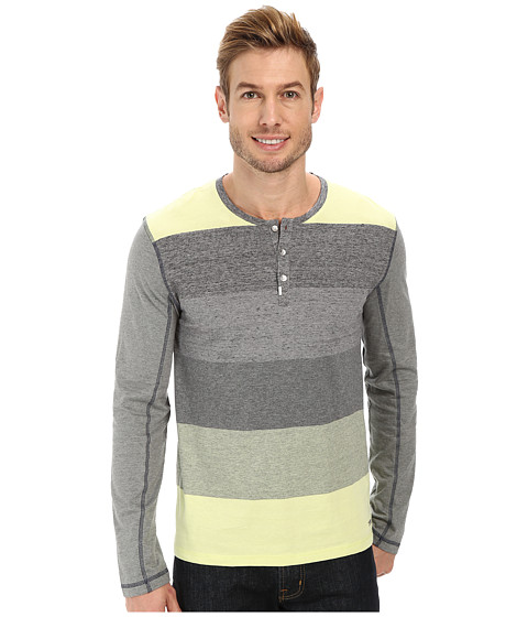 Calvin Klein Jeans - L/S Henley Color Blocked (Limelight) Men's Long Sleeve Pullover