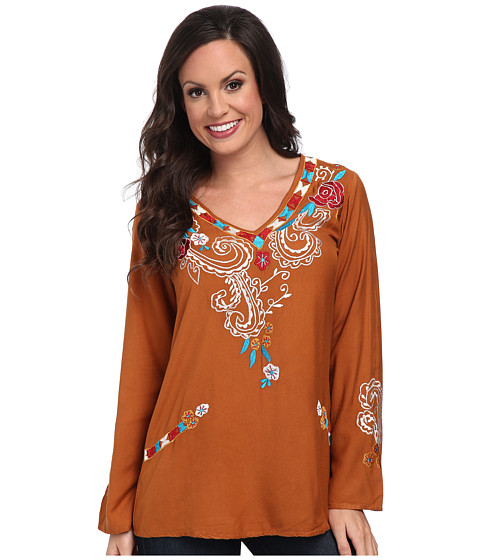 Scully - Valerie Embroidered Top (Pumpkin) Women