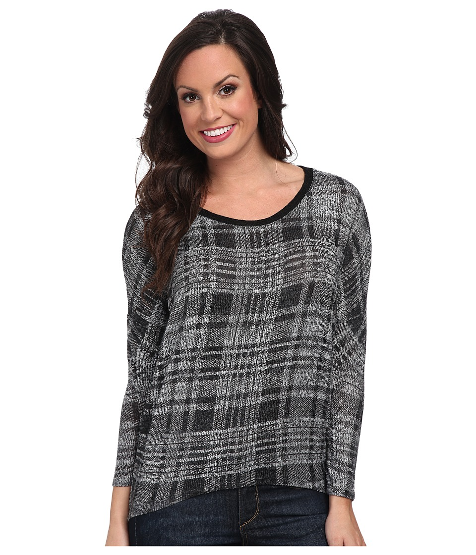 Scully - Maria Split Back Top (Grey) Women's Clothing