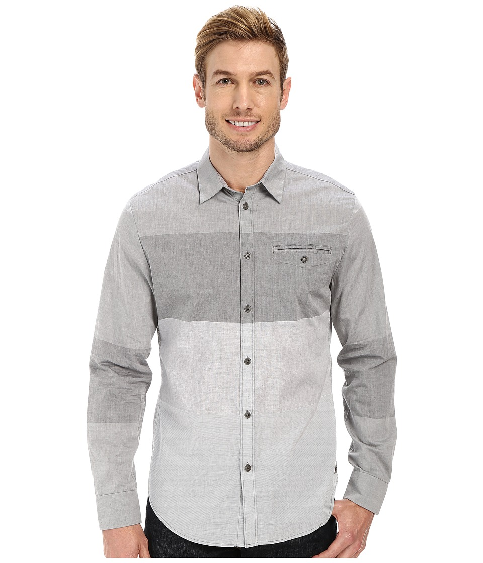 Calvin Klein Jeans - End On End Color Block Shirt (Platinum) Men