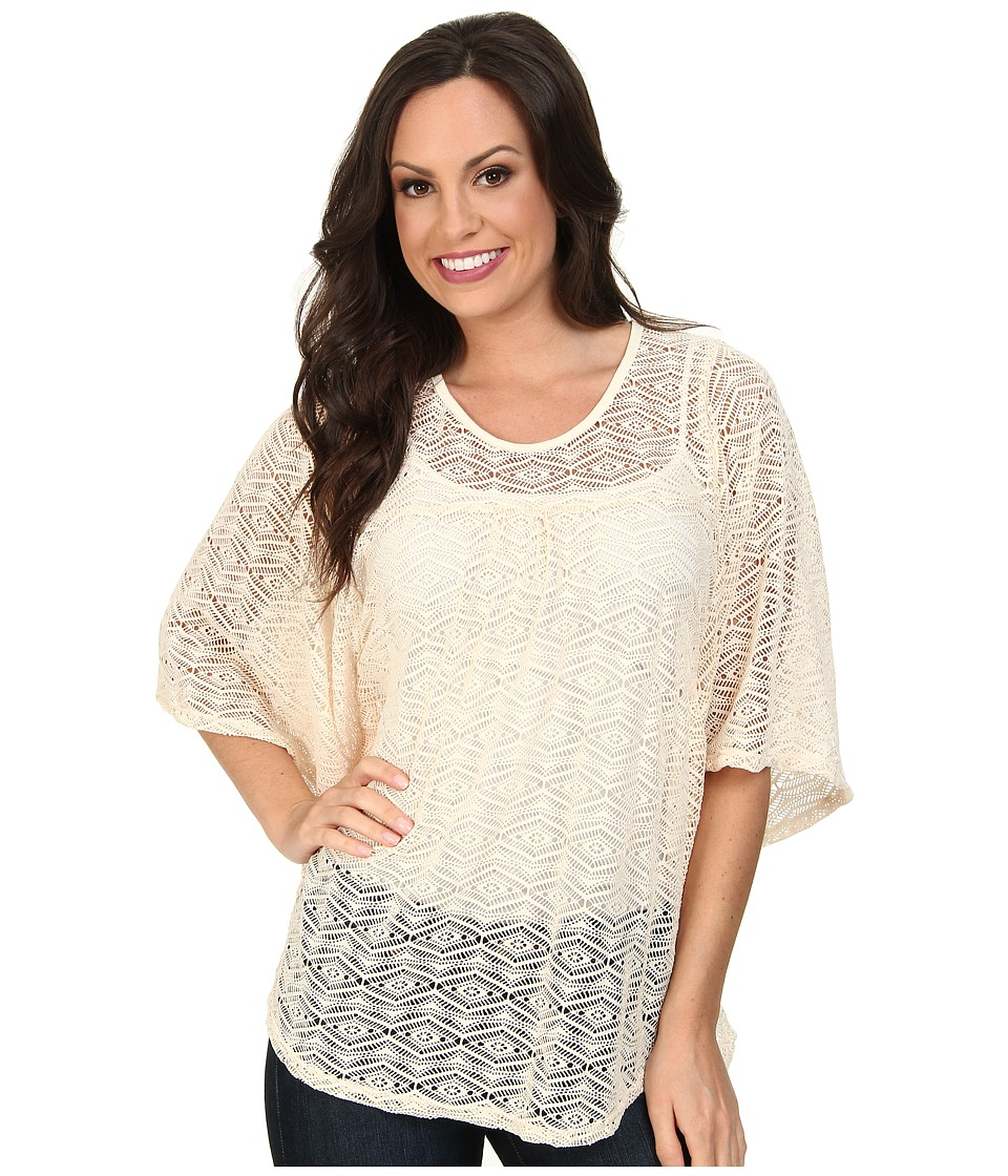 Scully - Adara Beautiful Dolman Crochet Lace Top (Nude) Women's Clothing