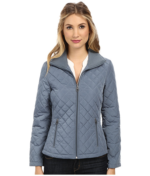Calvin Klein - Knit Collar Quilted Jacket CW426795 (Shale) Women
