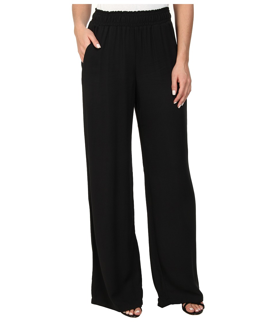 Splendid - Rayon Twill Wide Leg Pant (Black) Women's Casual Pants