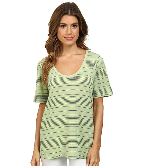 Splendid - Nairobi Stripe Tee (Honeydew) Women