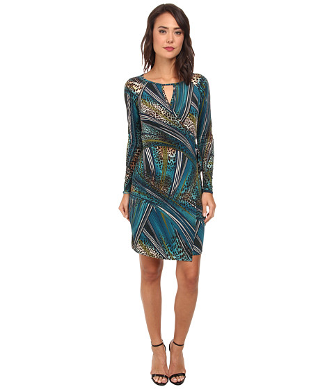 Christin Michaels - Sierra Cutout Wrap Dress (Teal) Women
