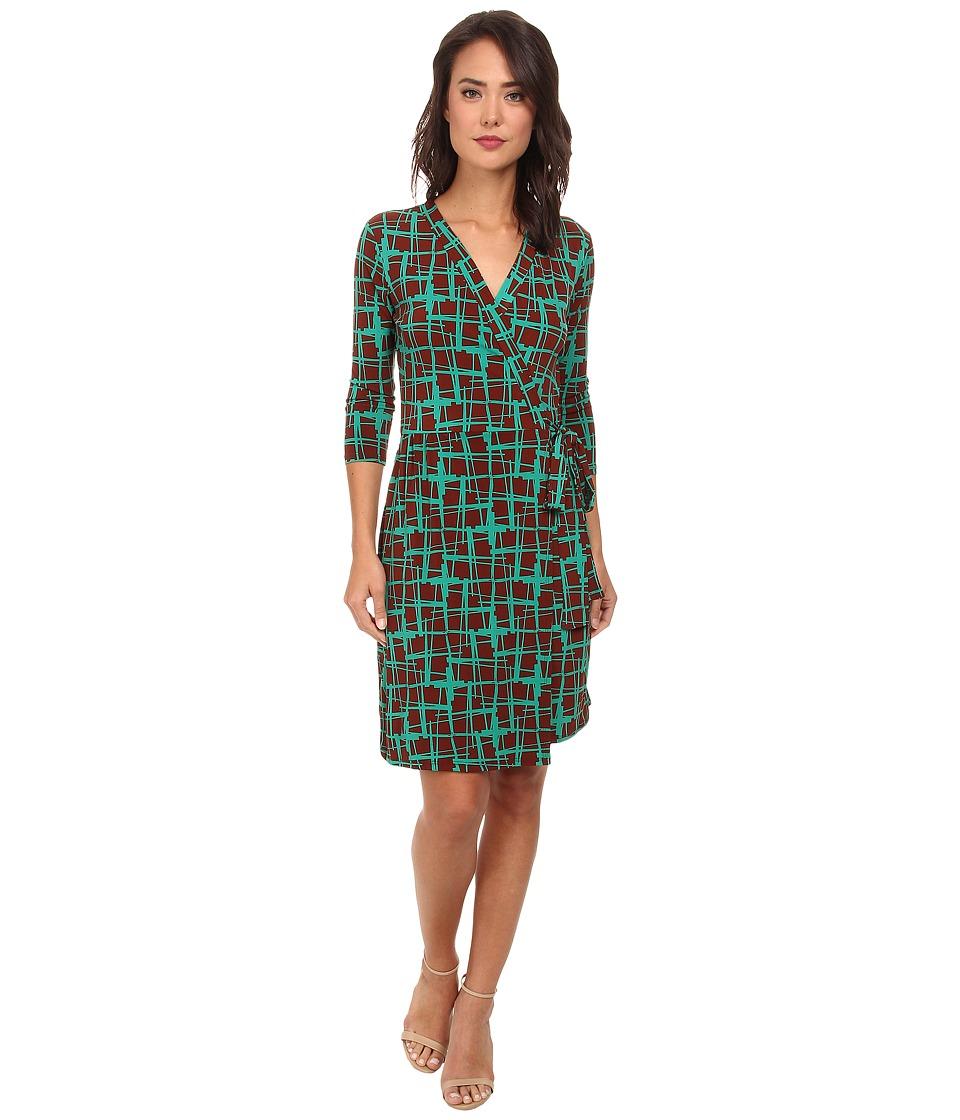 Christin Michaels - Janele Wrap Dress (Green) Women's Dress