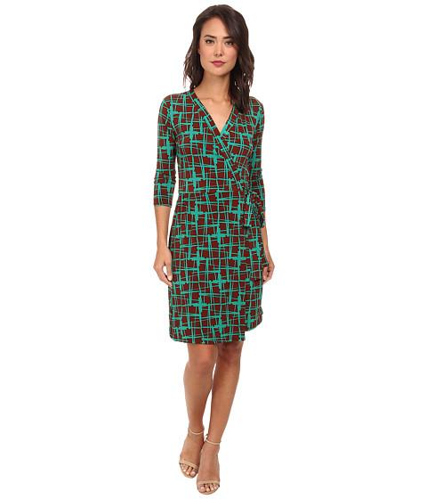 Christin Michaels - Janele Wrap Dress (Green) Women