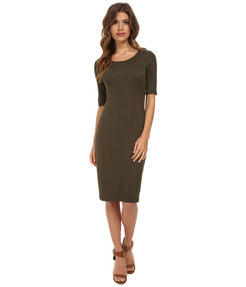 Splendid - Ribbed Dress (Olivine) Women