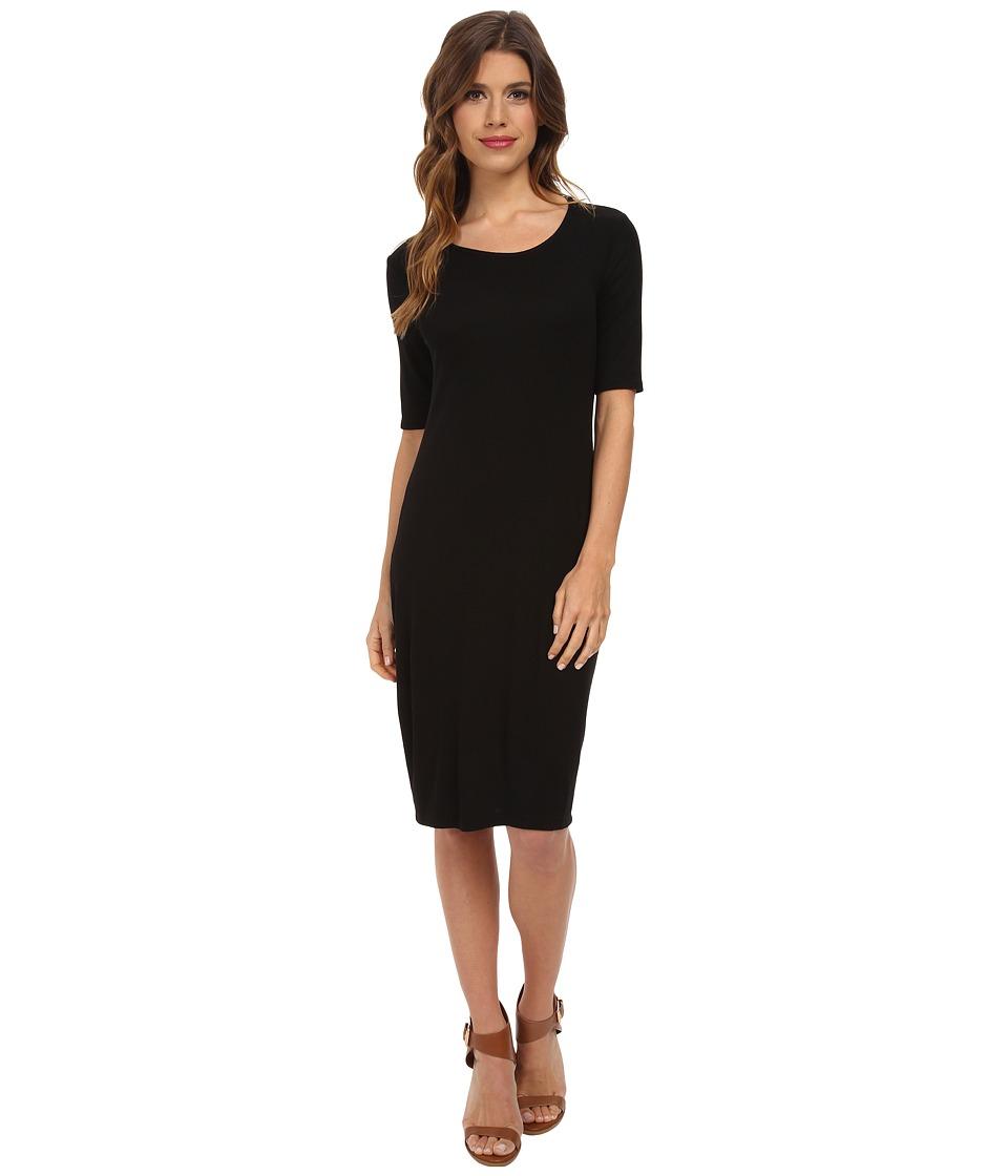 Splendid - Ribbed Dress (Black) Women