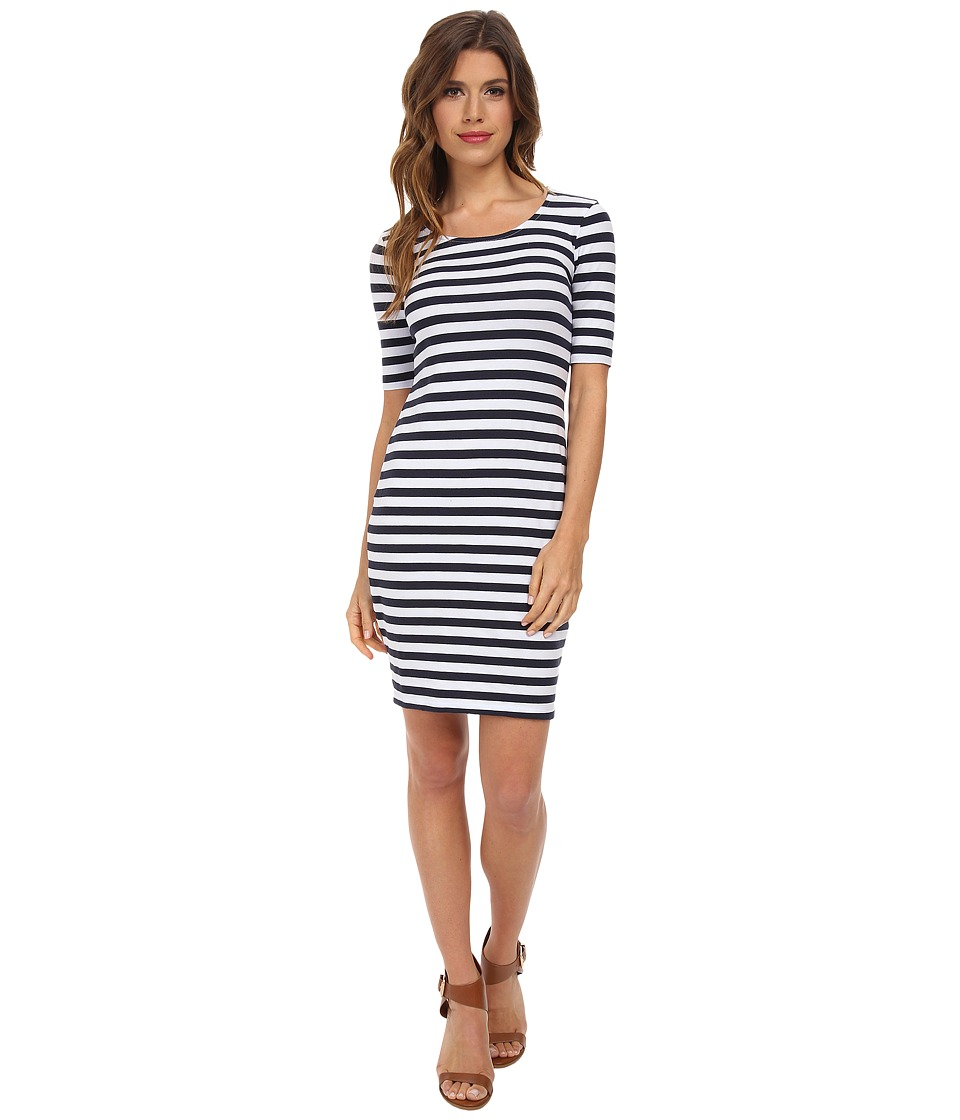 Splendid - Stripe Dress (White) Women's Dress