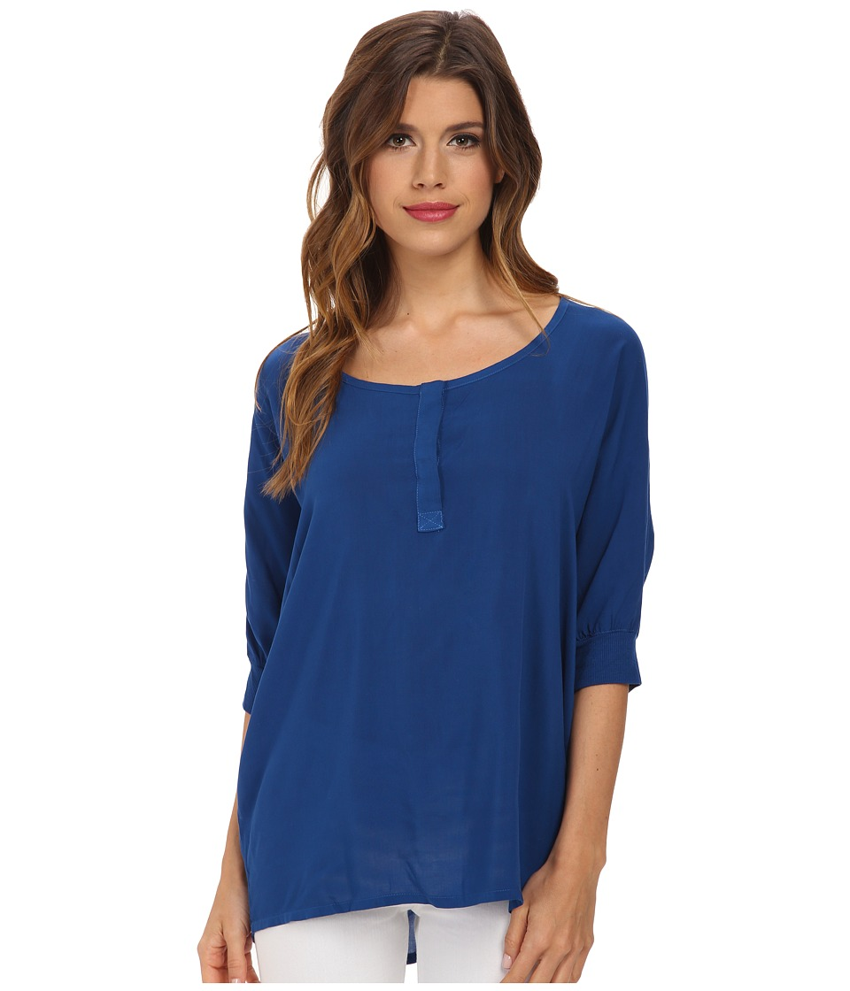Splendid - Rayon 3/4 Length Shirt (Azure) Women's Clothing