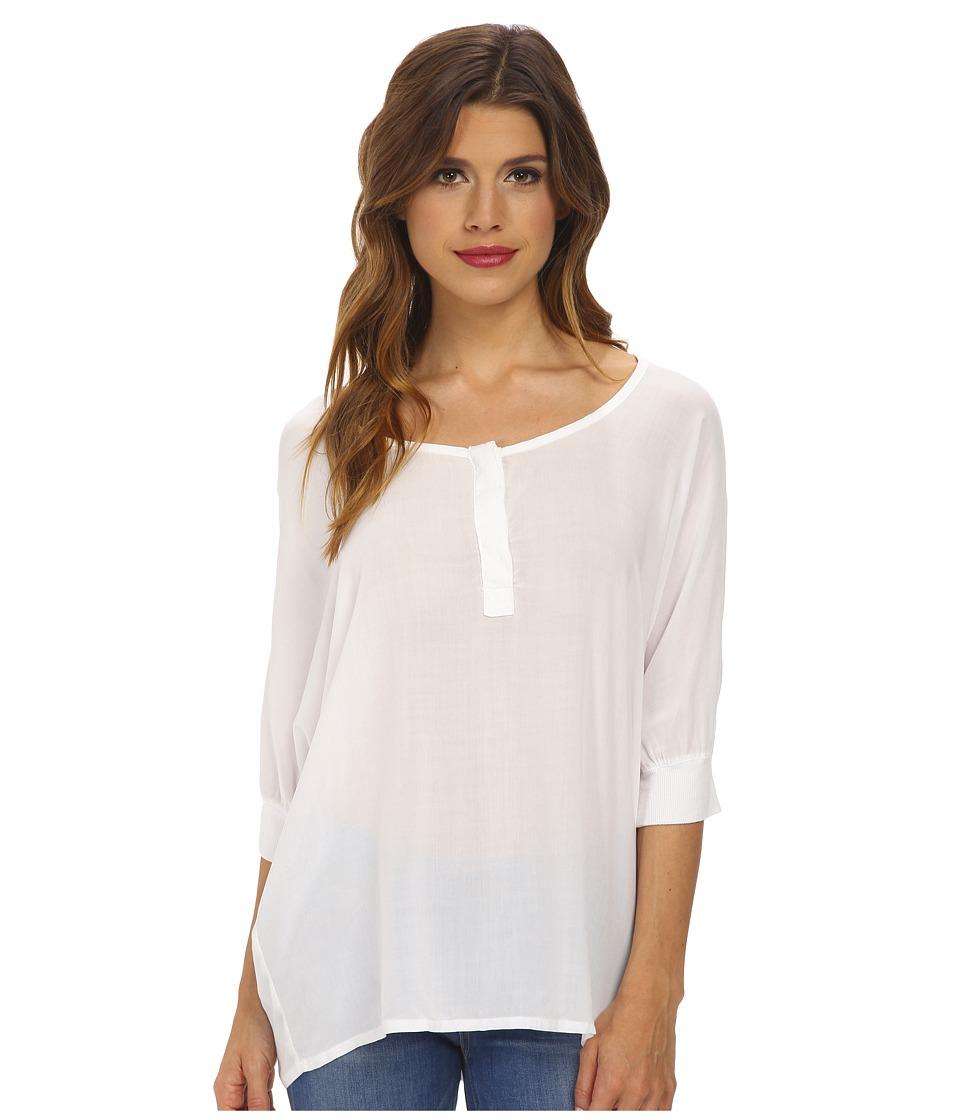 Splendid - Rayon 3/4 Length Shirt (White) Women
