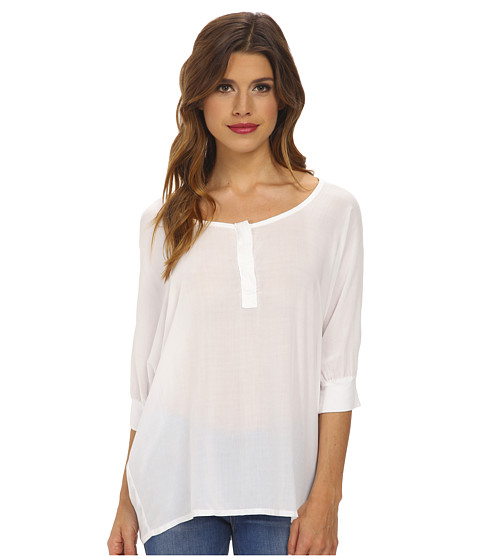 Splendid - Rayon 3/4 Length Shirt (White) Women's Clothing