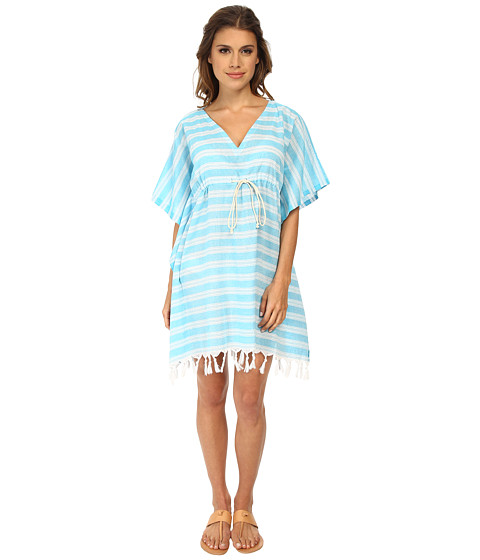 Hat Attack - Cover-Up with Fringe (Turquoise) Women