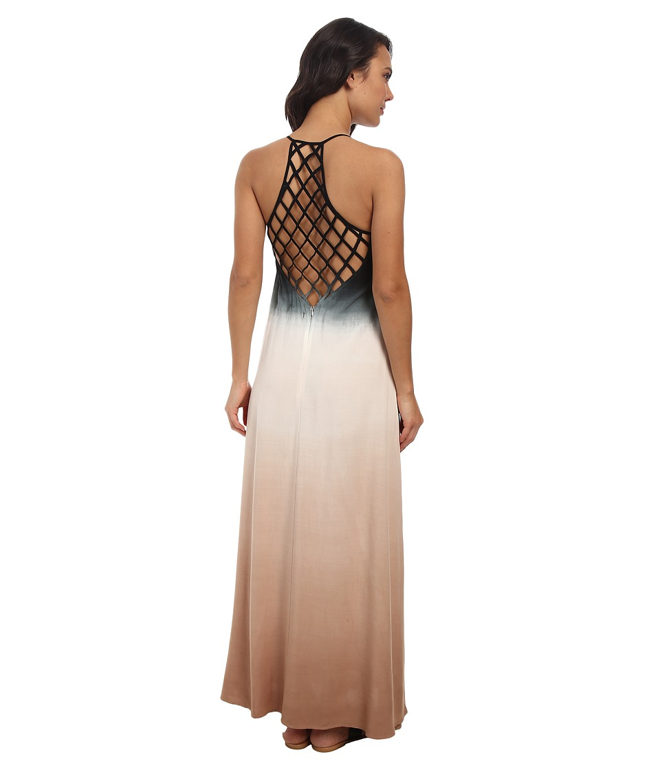 Culture Phit - Jordan Ombre Maxi Dress (Black) Women's Dress