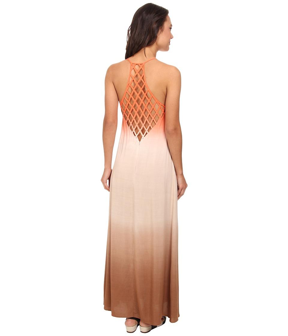 Culture Phit - Jordan Ombre Maxi Dress (Coral) Women's Dress