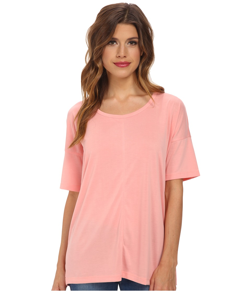 Splendid - Sandwash Jersey Open Back Top (Peach) Women's Clothing