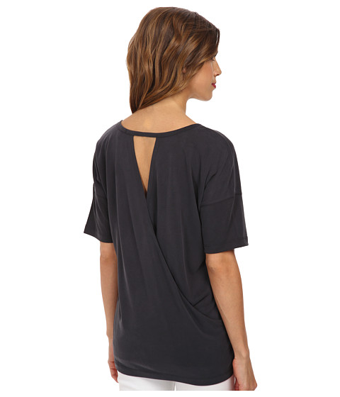 Splendid - Sandwash Jersey Open Back Top (Black) Women