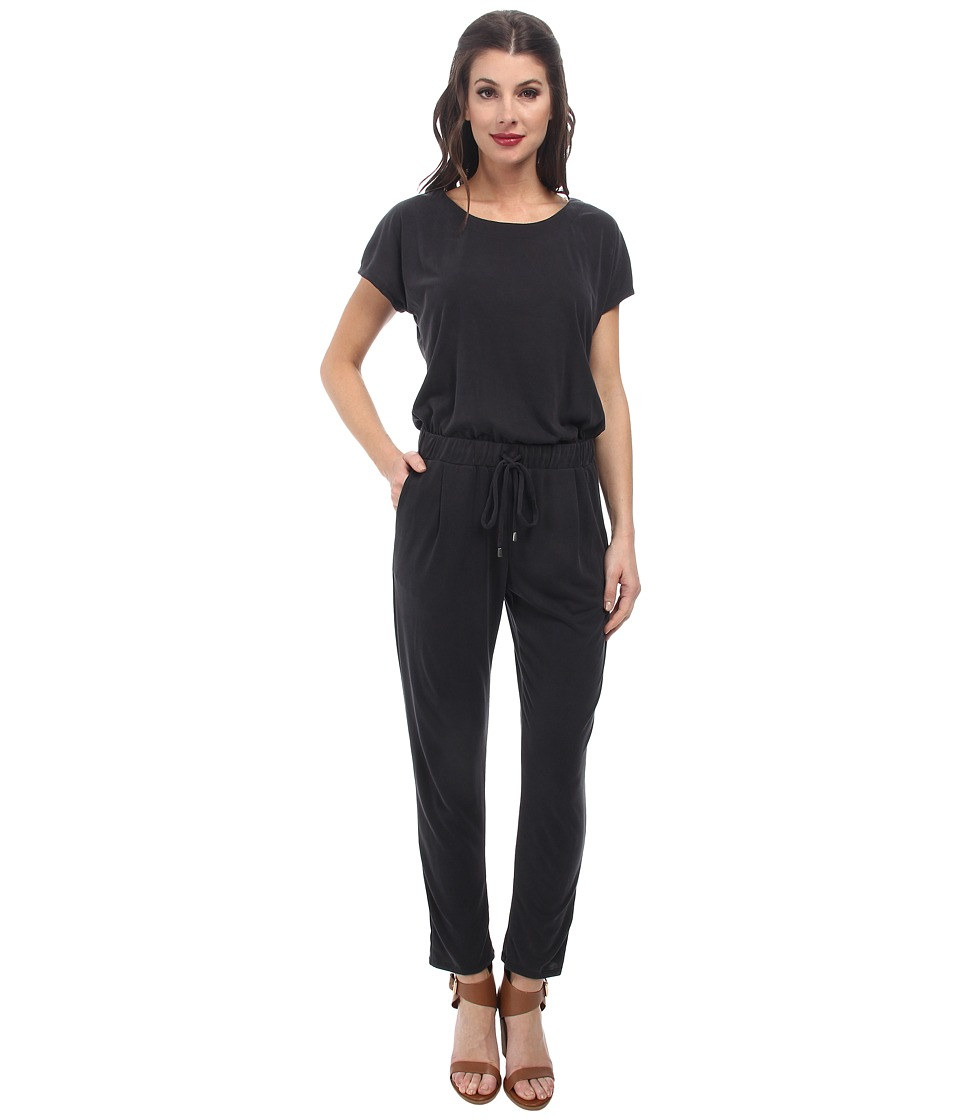 Splendid - Sandwash Jersey Jumpsuit (Black) Women's Jumpsuit & Rompers One Piece