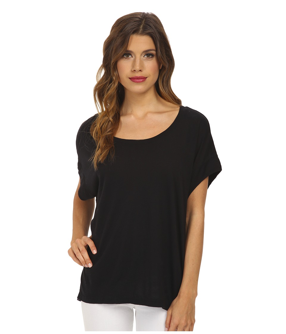 Splendid Very Light Jersey Circle Tee (Black) Women