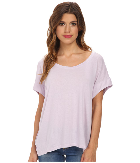 Splendid - Very Light Jersey Circle Tee (Lilac) Women