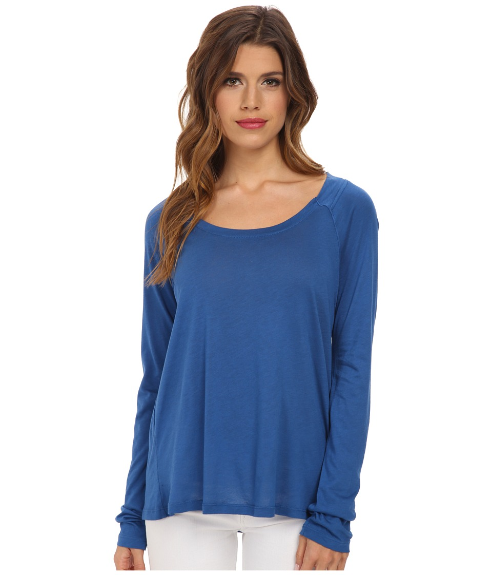 Splendid - Very Light Jersey Long Sleeve (Azure) Women