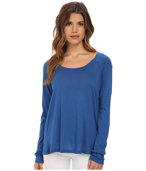 Splendid - Very Light Jersey Long Sleeve (Azure) Women's Clothing