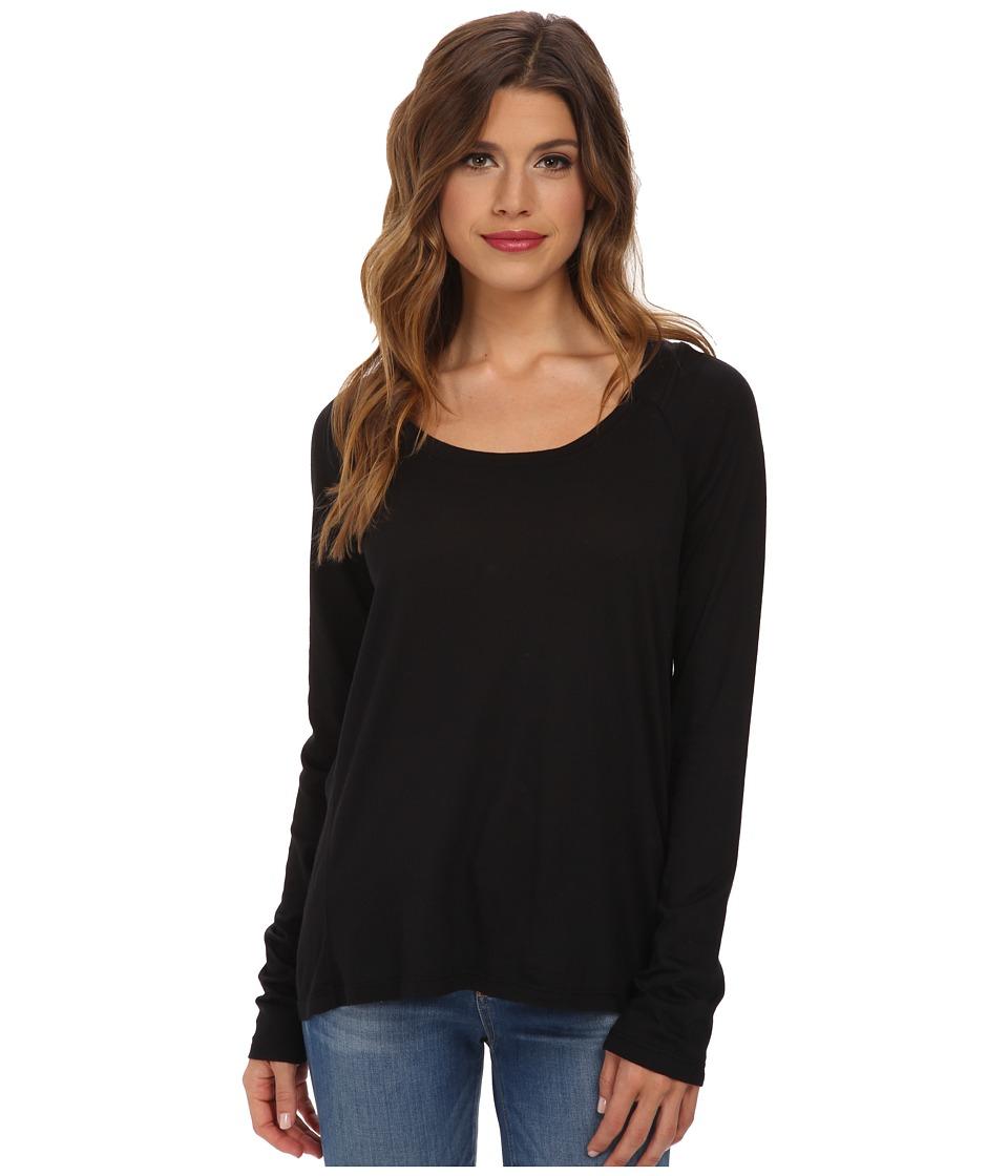 Splendid - Very Light Jersey Long Sleeve (Black) Women's Clothing