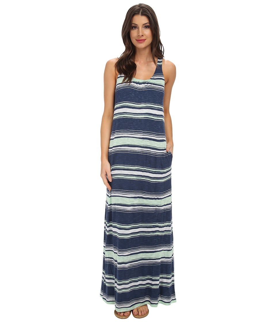 Splendid - Zanzibar Stripe Maxi Dress (Navy) Women's Dress