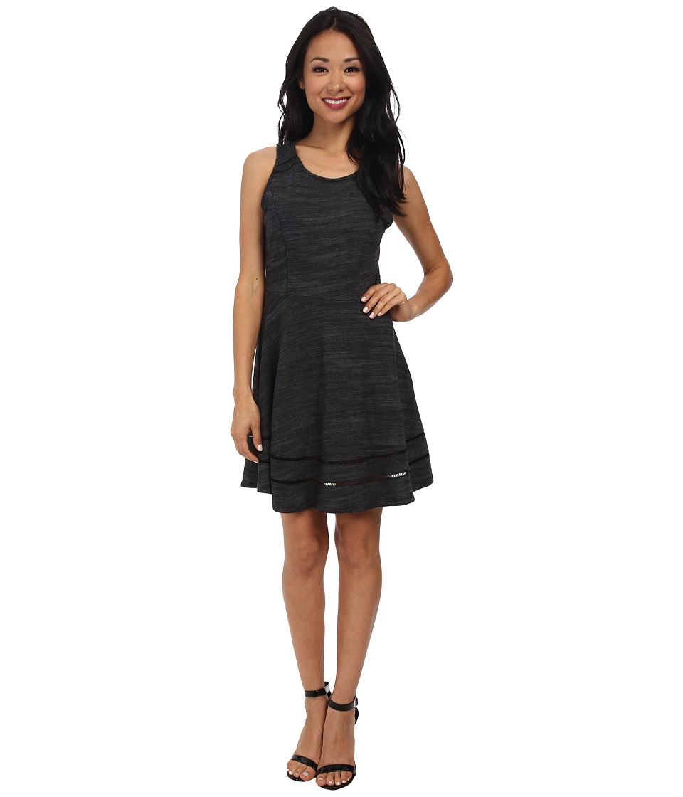 Splendid - Terry with Lattice Trim Dress (Heather Black) Women's Dress