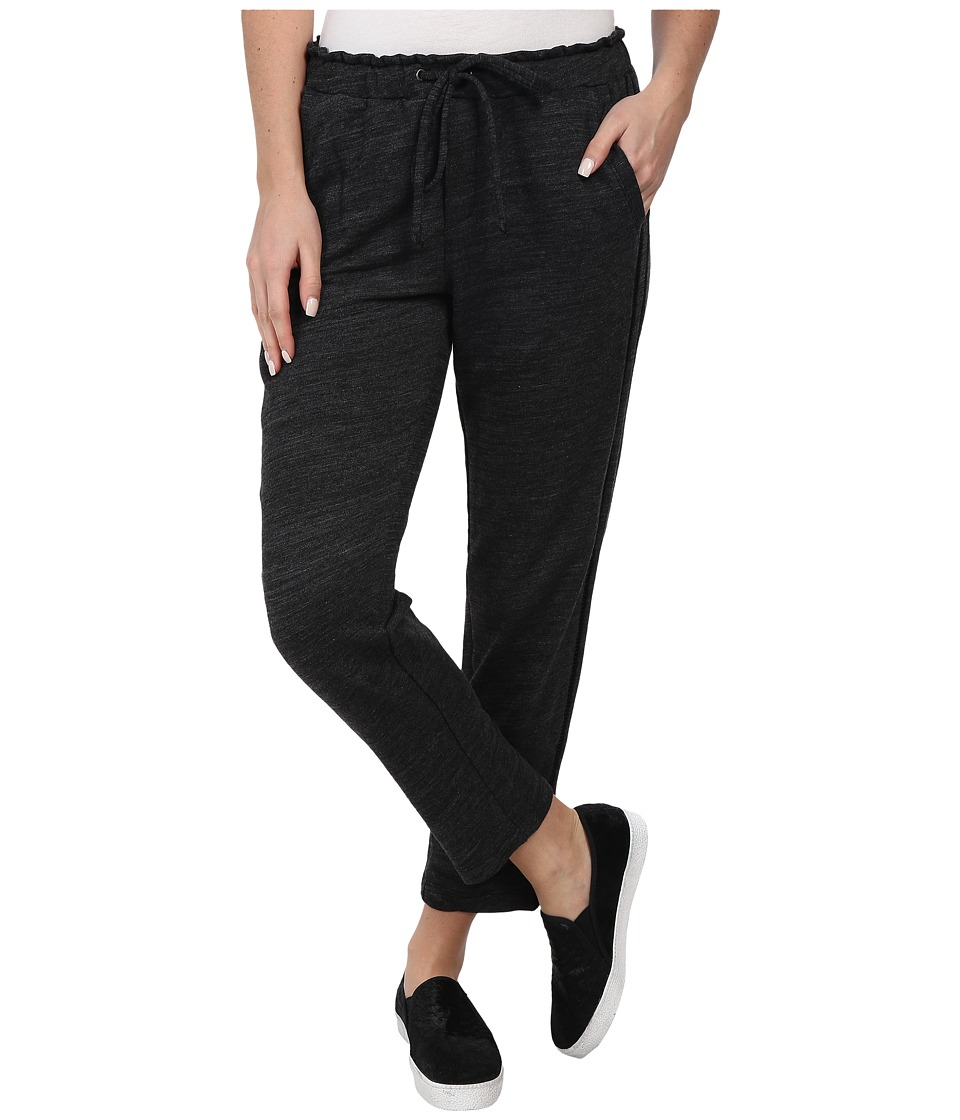 Splendid - Terry with Lattice Trim Pant (Heather Black) Women's Casual Pants