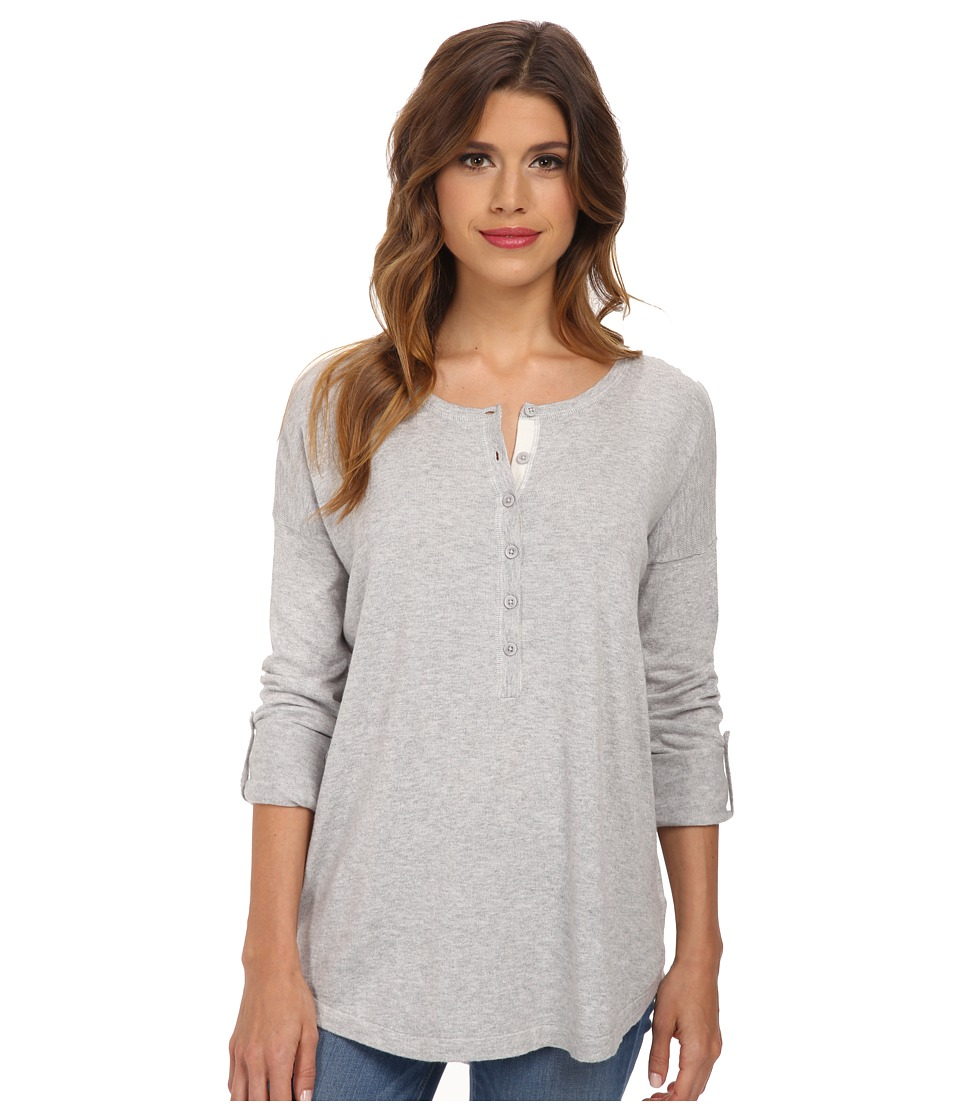 Splendid - Cashmere Top (Heather Grey/Cream) Women's Clothing
