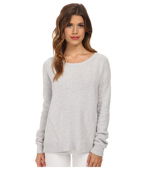 Splendid - Marled Stitch Sweater (Heather Grey) Women's Sweater