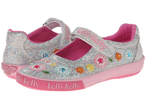 Lelli Kelly Kids - Sandi Glitter Dolly (Toddler/Little Kid/Big Kid) (Silver Glitter) Girls Shoes