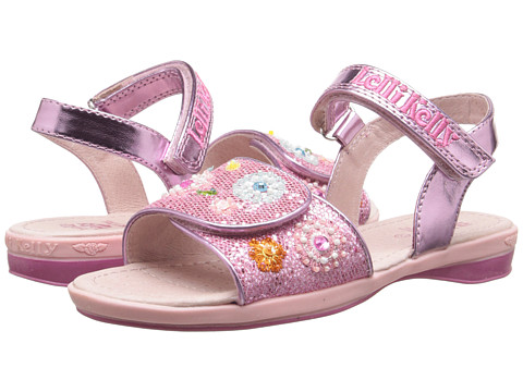 Lelli Kelly Kids - Sandi Sandal (Toddler/Little Kid/Big Kid) (Pink Glitter) Girls Shoes