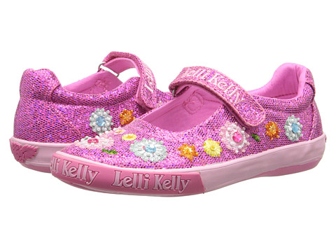 Lelli Kelly Kids - Sandi Glitter Dolly (Toddler/Little Kid/Big Kid) (Fuchsia Glitter) Girls Shoes
