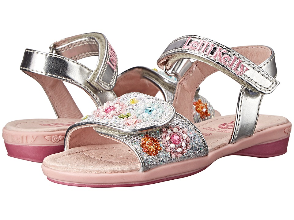 Lelli Kelly Kids - Sandi Sandal (Toddler/Little Kid/Big Kid) (Silver Glitter) Girls Shoes