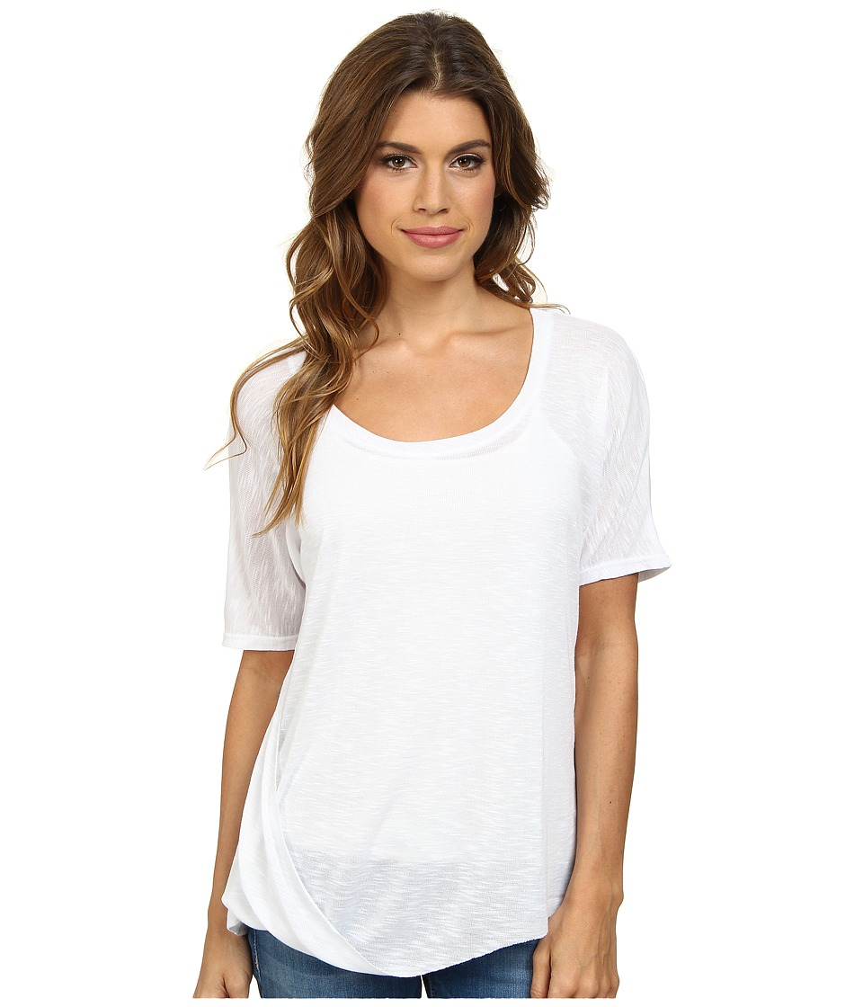 Splendid Drapey Slub Jersey Top (White) Women