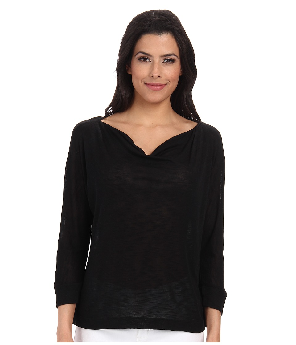 Splendid - Drapey Slub Dolman Top (Black) Women's Long Sleeve Pullover