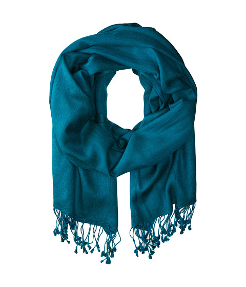 Betsey Johnson - Cashmere/Silk Real Pashmina (Teal 1) Scarves