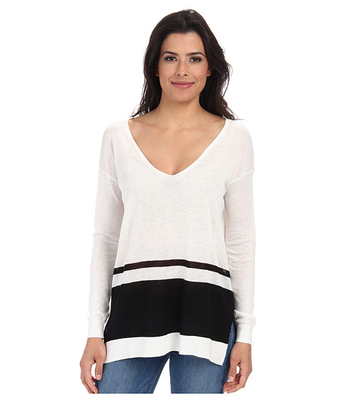 Splendid - Highland Stripe Sweater (Cream/Black) Women's Sweater