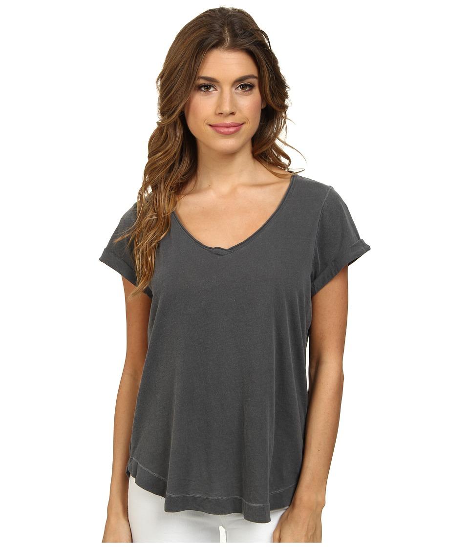 Splendid - Vintage Whisper V-Neck Tee (Lead) Women's T Shirt