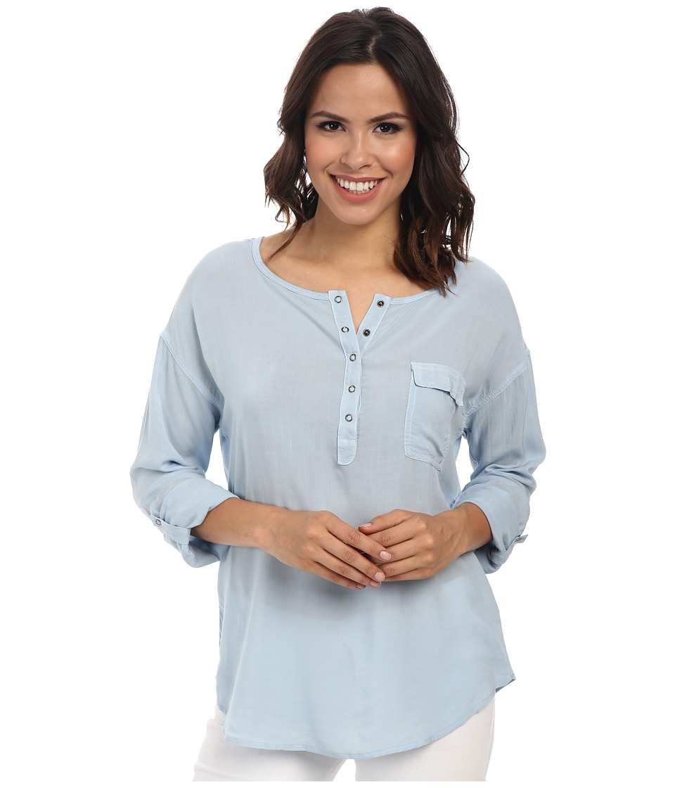 Splendid - Rayon Voile Shirt (Mist) Women's Clothing