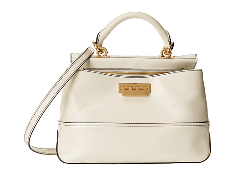 ZAC Zac Posen - Eartha Envelope Peek-A-Boo Crossbody (White) Cross Body Handbags