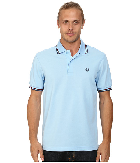 Fred Perry - Twin Tipped Fred Perry Polo (Sky Blue/Port/Indigo) Men