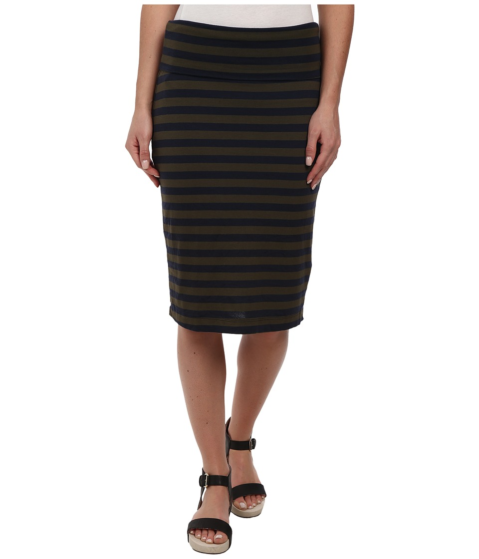 Splendid - Stripe Skirt (Olivine) Women