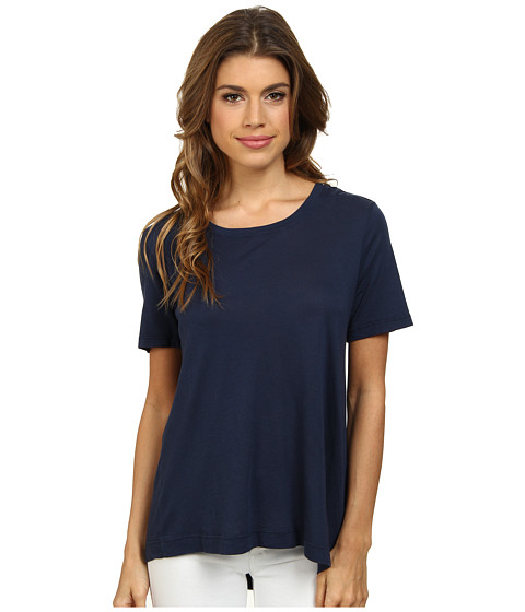 Splendid - Very Light Jersey and Rib T-Shirt (Navy) Women's T Shirt