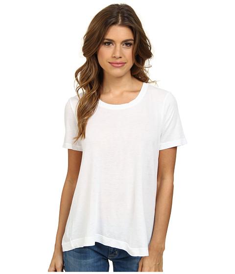 Splendid - Very Light Jersey and Rib T-Shirt (White) Women's T Shirt